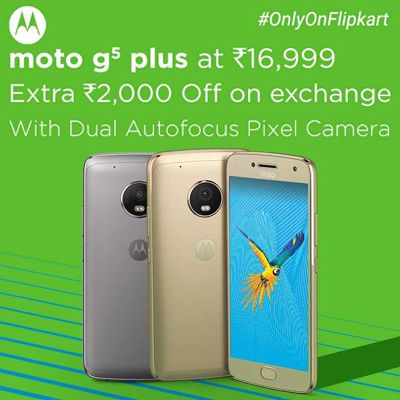 Moto G5 Plus Now Available @ Rs.16,999