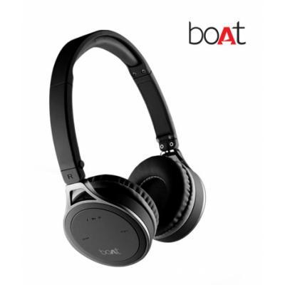 Boat Rockerz 500 On Ear Bluetooth Headphone - Black