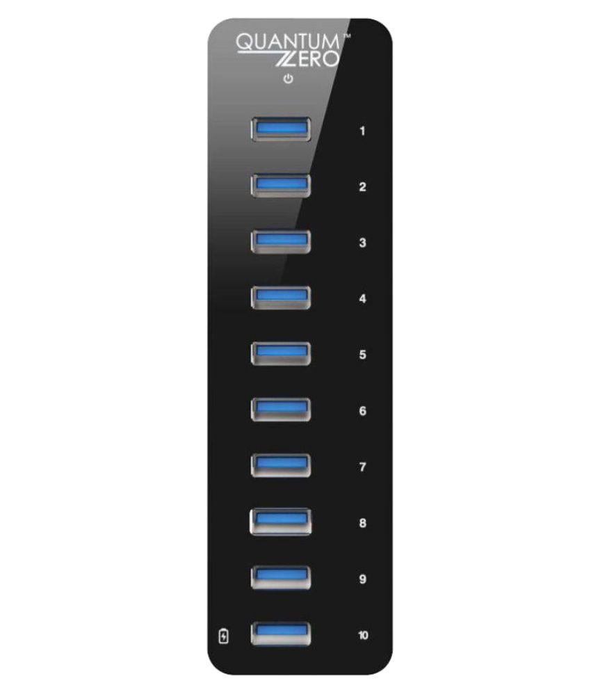 QuantumZERO USB 3.0 10-Port 60W Powered Hub