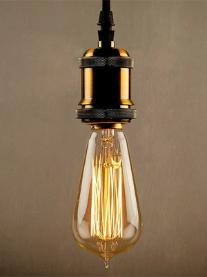 Yellow Tungsten ST64 Filament Bulb by Homesake