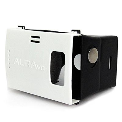 AuraVR Virtual Reality Plastic VR Headset, Supports upto 6 Inches Phones