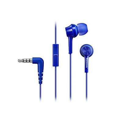 Panasonic RP-TCM105E-A In-Ear Headphone Headset With Mic - Blue