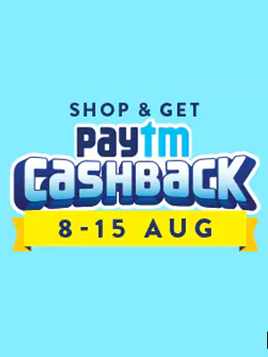 Paytm Cashback 8th-15th August