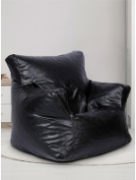 Ricky XXXL Filled Bean Bag in Black Colour by SGS Industries