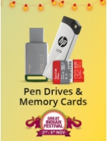 Minimum 50% off: Pen drives & Memory cards