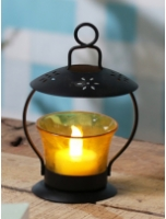 Yellow Glass Votive Tea Light Holder by Heaven Decor
