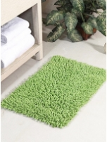 Solid Cotton 24 x 16 inch Bath Mat By HomeFurry