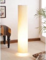 Beige Poly Cotton Floor Lamp by Lamp House