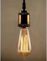 Yellow Tungsten ST64 Filament Bulb by Homesake